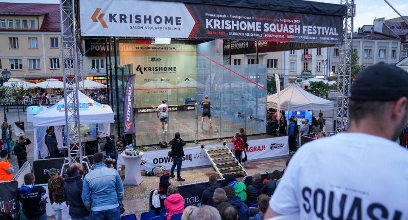Sport, Rynku Kościuszki trwają zmagania squasha - zdjęcie, fotografia