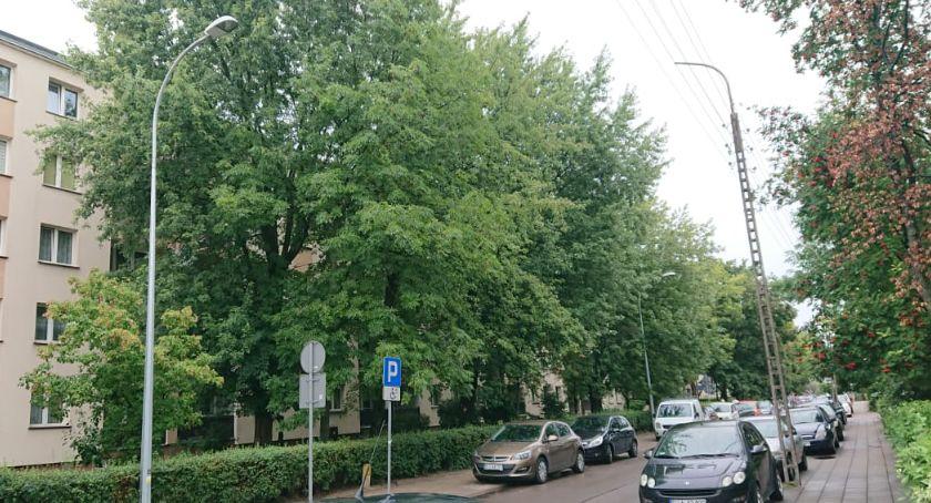 Wiadomości, Ulica Parkowa może parkowa grozi utrata wielu drzew - zdjęcie, fotografia