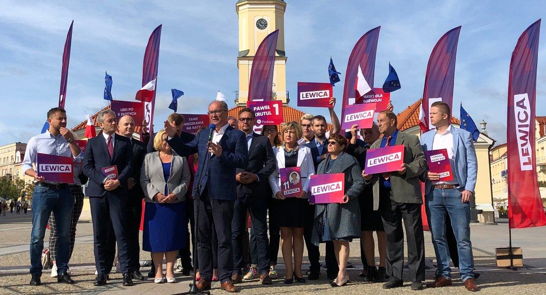 Wiadomości, Trzech lewicowych liderów Białymstoku Biedroń czuje wszyscy dumni Podlasia - zdjęcie, fotografia