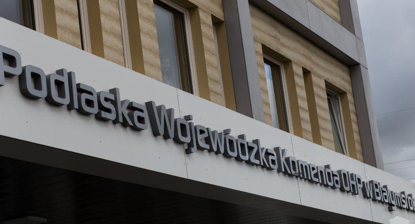 Wiadomości, Podlaska Komenda Białymstoku budynek Sporo będzie działo - zdjęcie, fotografia