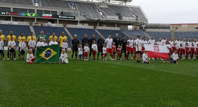 Piłka nożna, stadionie Chicago Polska zremisowała Brazylią meczu padło sześć - zdjęcie, fotografia