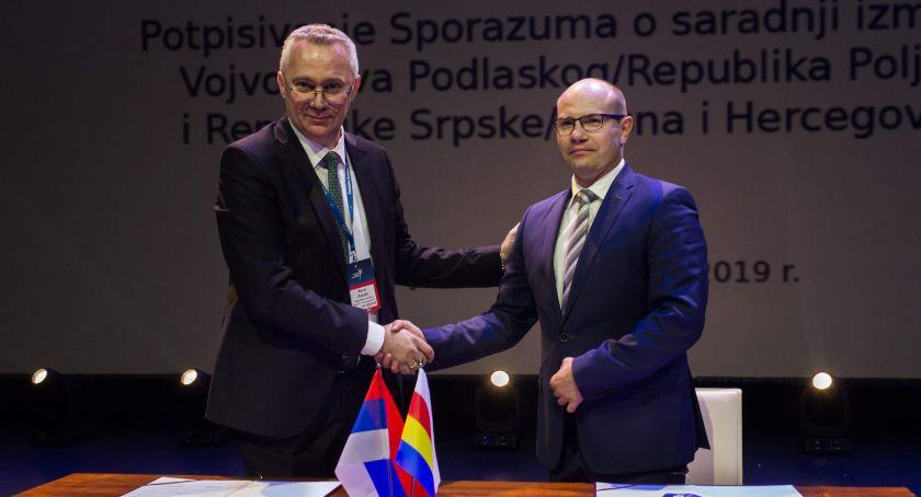 Gospodarka, Republika Serbska Bośni Hercegowiny województwo podlaskie podpisały umowę współpracy - zdjęcie, fotografia