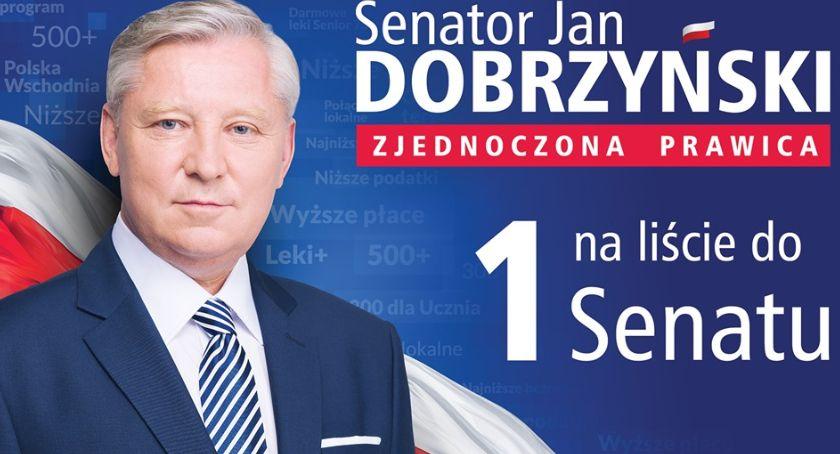 Polityka, Dobrzyński Wierzę sprawiedliwą solidarną dumną Polskę - zdjęcie, fotografia