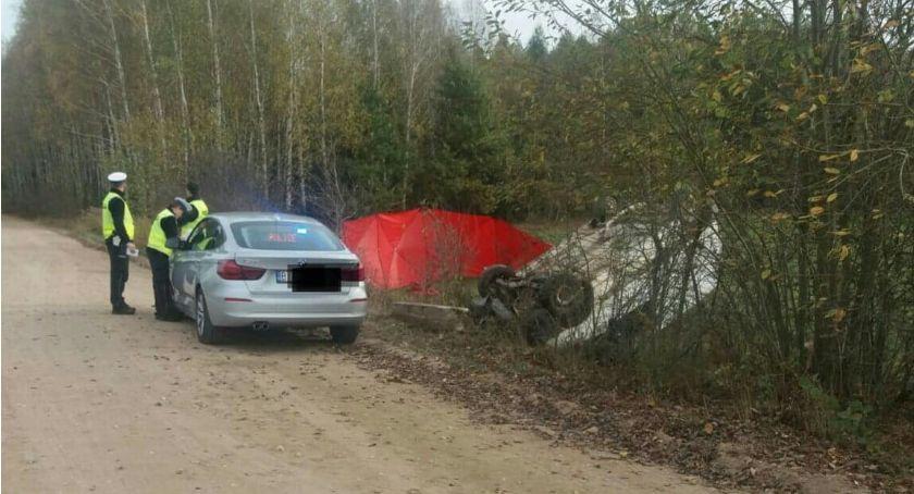 KOLIZJA 24, Jeden śmiertelny wypadek Katrynką drugi Borsukówką - zdjęcie, fotografia