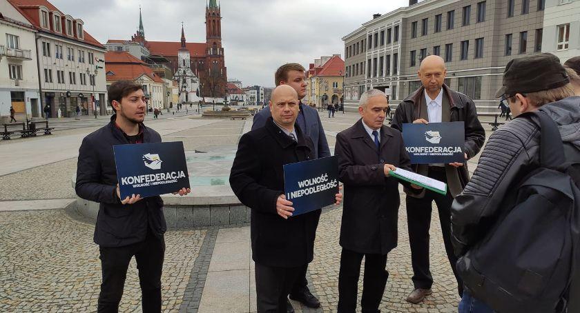 Polityka, Konfederacja składa wniosek wojewody uchylenie uchwały odnośnie ulicy Łupaszki - zdjęcie, fotografia