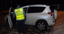 Droga Toyota odzyskana przez pograniczników