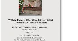 Białystoczanie pamiętają o ofiarach Smoleńska