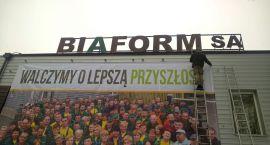 Protest pracowników Biaformu podczas poniedziałkowej sesji Rady Miasta Białegostoku