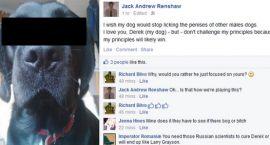 Polityk atakuje psa-geja