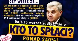 Kocham Białystok krytykuje prezydenta Truskolaskiego i mówi stop zadłużaniu miasta