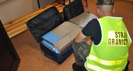 Augustowscy pogranicznicy przechwycili walizki z kontrabandą
