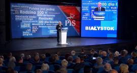 Jarosław Kaczyński o Białymstoku: Są różne nowe gmachy, ale pensja najniższa