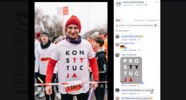 W tej koszulce radny PO pobiegłby lepiej w Warszawie