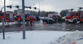 Wypadek z udziałem karetki na Kaczorowskiego