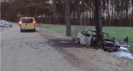 Nieodpowiedzialny kierowca BMW uciekał przed policją i zatrzymał się na drzewie