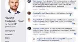 Truskolaski publicznie szerzy kłamstwa w internecie. Pomaga mu spotted