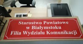Łapski wydział komunikacji starostwa powiatowego prawie gotowy na przyjęcie interesantów