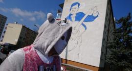 Mural z Zenkiem powstaje. Wkrótce będzie gotowy