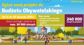 Łapianie do końca sierpnia mogą składać wnioski do budżetu obywatelskiego