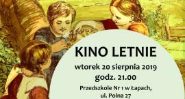 Kino letnie w placówce przedszkolnej w Łapach