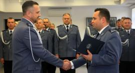 Białostoccy policjanci powitali oficjalnie nowego komendanta