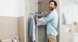 Zimą pranie wyschnie nawet w małej łazience