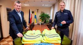 Władze Łap z Policją zachęcają do noszenia odblasków