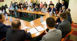 Strajk rolników pod urzędem marszałkowskim zakończony