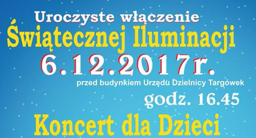 imprezy plenerowe, Włączenie iluminacji koncert świąteczny Targówku - zdjęcie, fotografia