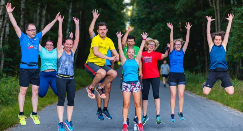 bieganie, Startuje wtorkowe bieganie Lesie Bródnowskim - zdjęcie, fotografia