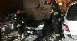 Pożar samochodu  przy ulicy Askenazego [ZDJĘCIA]