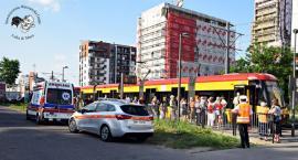 Kobieta w ciąży trafiła do szpitala po wypadku przy Rembielińskiej