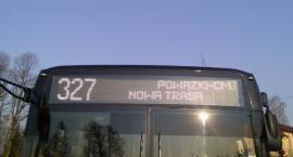 Połączenie linii 327 i 380. Autobusy linii 327 kursują na nowej trasie