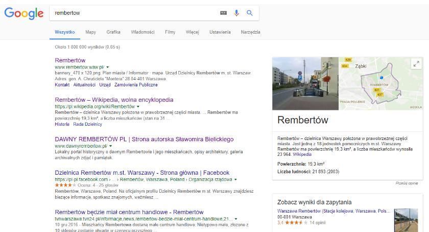 Bezpieczeństwo, Google trolluje Rembertów - zdjęcie, fotografia