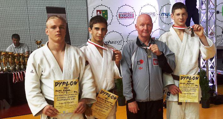 Edukacja i wychowanie, Rembertowscy judocy podium - zdjęcie, fotografia
