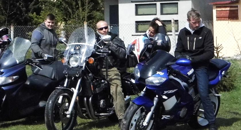 Wydarzenia lokalne, Zaczęli wiosnę motocyklach - zdjęcie, fotografia