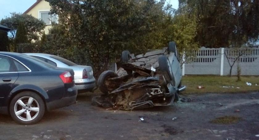 Wypadki, Wielgie Pijany kierowca skończył fatalnie - zdjęcie, fotografia