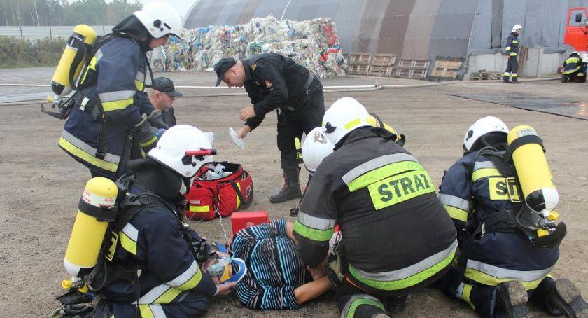 Komunikaty i profilaktyka, Ćwiczenia pożarnicze Tłuchówku - zdjęcie, fotografia