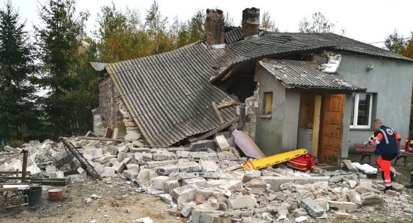Kronika kryminalna, Wybuch butli zniszczył - zdjęcie, fotografia