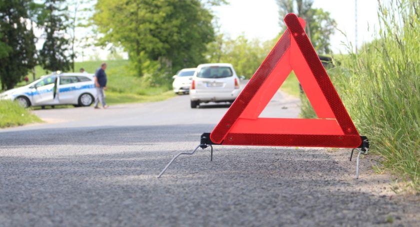 Wypadki, letni motocyklista szpitalu Sprawczynią potrącenia letnia kobieta - zdjęcie, fotografia