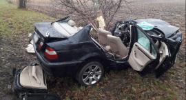 18-latek w BMW rozbił się na drzewie