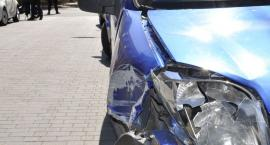 Citroen uderzył w motorower na skrzyżowaniu