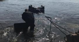 Auto zatonęło w Wiśle