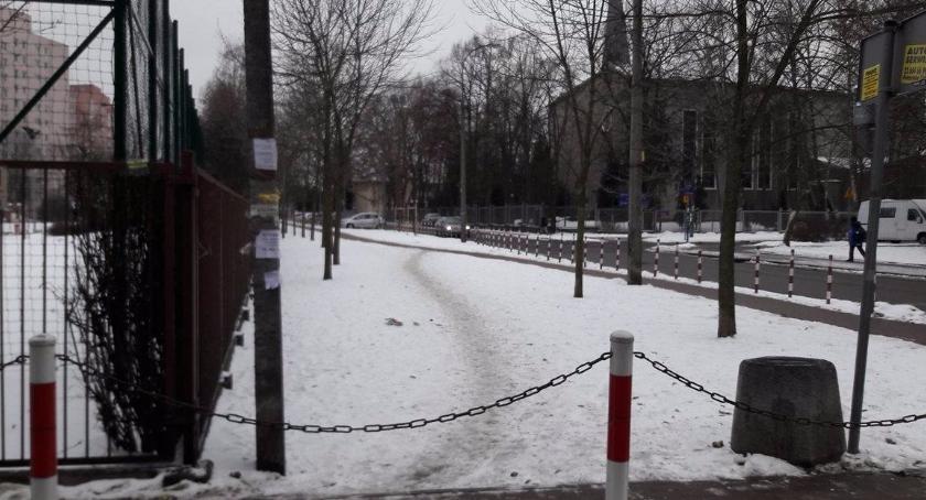 Zieleń, Przedepty chodnikami pomysł Jelonkach - zdjęcie, fotografia