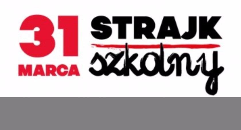 Szkoły, Strajk nauczycieli Bemowo strajkowało - zdjęcie, fotografia