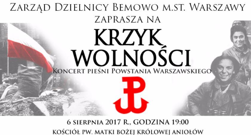 Historia, Koncert pieśni Powstania Warszawskiego Krzyk Wolności - zdjęcie, fotografia