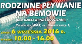 Jutro ruszają zapisy na bezpłatne pływanie!