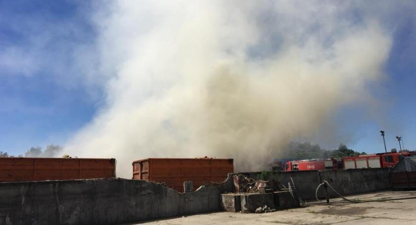 Bezpieczeństwo, Pożar śmieci Radiowie [PILNE] - zdjęcie, fotografia