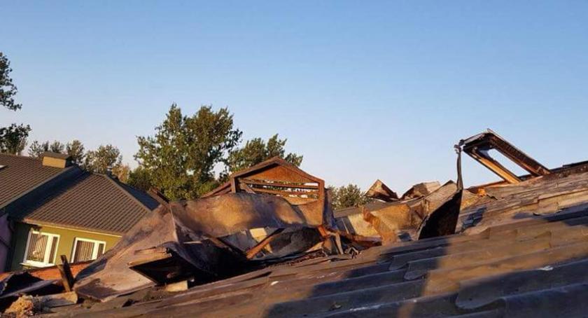 Wiadomości, Pożar Bielanach zakończył solidarnością mieszkańców - zdjęcie, fotografia