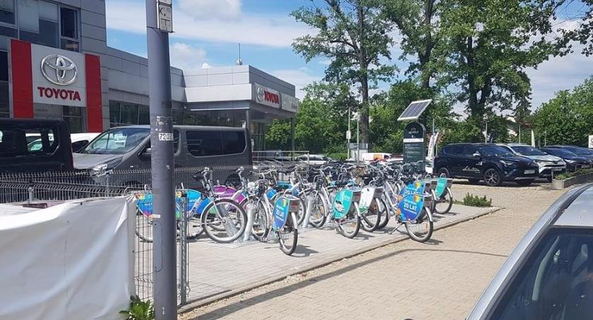 Rower, doczekała Veturilo dalej Bielanami - zdjęcie, fotografia